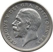 UK Crown George V 1933 KM# 836 GEORGIVS V DEI:GRA:BRITT:OMN:REX coin obverse