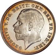 UK Crown George V Silver Jubilee 1935 Incused edge lettering KM# 842 GEORGIVS V. DG. BRITT: OMN: REX. FD. IND:I MP: BM coin obverse