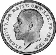 UK Crown George V Silver Jubilee 1935 Raised edge lettering KM# 842a GEORGIVS V. DG. BRITT: OMN: REX. FD. IND:I MP: BM coin obverse
