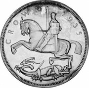 UK Crown George V Silver Jubilee 1935 Raised edge lettering KM# 842a C R O W N 1 9 3 5 PM coin reverse
