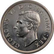 UK Crown George VI 1937 Proof KM# 857 GEORGIVS VI D:G:BR:OMN:REX HP coin obverse