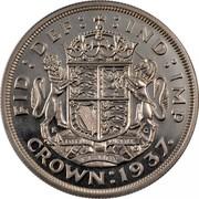 UK Crown George VI 1937 Proof KM# 857 FID:DEF: :IND:IMP DIEU ET MON DROIT CROWN:1937∙ coin reverse