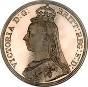 UK Crown Victoria 1887 KM# 765 VICTORIA D:G: BRITT: REGINA: F:D: coin obverse