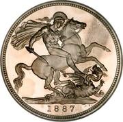 UK Crown Victoria 1887 KM# 765 B. P. coin reverse