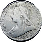 UK Crown Victoria 1898 LXII KM# 783 VICTORIA ∙ DEI ∙ GRA ∙ BRITT ∙ REGINA ∙ FID ∙ DEF ∙ IND ∙ IMP coin obverse