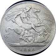 UK Crown Victoria 1898 LXII KM# 783 B. P. coin reverse