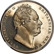 UK Crown William IIII 1831 Proof KM# 715 GULIELMUS IIII D: G: BRITANNIAR: REX F:D: coin obverse