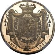UK Crown William IIII 1831 Proof KM# 715 ANNO 1831 coin reverse