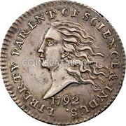 USA Disme US Liberty Parent of Science and Industry 1792 KM# PnB1 LIBERTY PARENT OF SCIENCE & INDUS. coin obverse