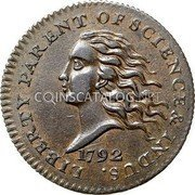 USA Disme 1792 KM# PnC1 Issues of 1792 LIBERTY PARENT OF SCIENCE & INDUS. coin obverse