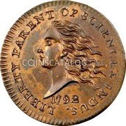 USA Disme US Liberty Parent of Science and Industry 1792 KM# PnD1 LIBERTY PARENT OF SCIENCE & INDUS. coin obverse