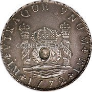 UK Dollar 1772-1789 CM Date: ND(1797) KM# 636 Bank of England coin obverse