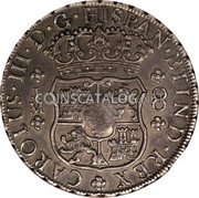 UK Dollar 1772-1789 CM Date: ND(1797) KM# 636 Bank of England coin reverse