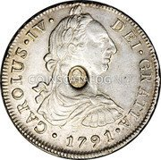 UK Dollar 1789-1791 CM Date: ND(1797) KM# 637 Bank of England coin obverse