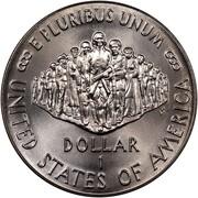 USA Dollar Constitution Bicentennial 1987 P KM# 220 UNITED STATES OF AMERICA DOLLAR 1 E PLURIBUS UNUM coin reverse
