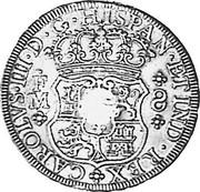 UK Dollar Countermarked 1760-1771 CM Date: ND(1797) KM# 631 CAROLVS∙III∙D∙G∙HISPAN∙ET IND∙REX F M 8 coin reverse