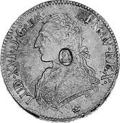UK Dollar Countermarked 1774-1792 CM Date: ND(1797) KM# 628 LUD∙XVI∙D∙G∙FR∙ ET NAV∙REX coin obverse