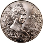 USA Dollar Dolley Madison 1999 P KM# 298 LIBERTY IN GOD WE TRUST DOLLEY MADISON coin obverse