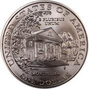 USA Dollar Dolley Madison 1999 P KM# 298 UNITED STATES OF AMERICA ONE DOLLAR E PLURIBUS UNUM MONTPELIER coin reverse