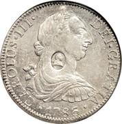 UK Dollar George III 1772-1789 CM Date: ND(1797) KM# 632 CAROLUS∙III∙ DEI∙GRATIA∙*YEAR*∙ coin obverse