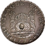 UK Dollar George III 1772-1789 CM Date: ND(1797) KM# 636 VTRAQUE VNUM PLUS VLTR LM *YEAR* LM coin obverse