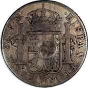 UK Dollar George III 1789-1790 CM Date: ND(1797) KM# 633 ∙HISPAN∙ET IND∙REX∙ MO ∙ 8R ∙F∙M∙ PLUS VLTRA coin reverse