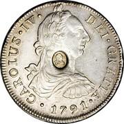 UK Dollar George III 1789-1791 CM Date: ND(1797) KM# 637 CAROLUS∙IV∙DEI∙GRATIA∙*YEAR*∙ coin obverse