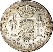 UK Dollar George III 1789-1791 CM Date: ND(1797) KM# 637 ∙HISPAN∙ET IND∙REX∙ ME ∙ 8R ∙I∙J∙ coin reverse