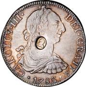 UK Dollar George III Countermarked ND Host Date: 1772-89 KM# 655 CAROLUS∙III∙ DEI∙GRATIA coin obverse