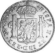 UK Dollar George IIII Countermarked 1791-1808 CM Date: ND(1797) KM# 638 HISPAN ET IND REX A E SR II coin reverse