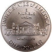 USA Dollar James Madison - Bill of Rights 1993 D KM# 241 UNITED STATES OF AMERICA E PLURIBUS UNUM ONE DOLLAR MONTPELIER coin reverse