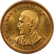 USA Dollar Lewis and Clark Exposition 1905 KM# 121 • LEWIS-CLARK EXPOSITION PORTLAND ORE. • coin obverse