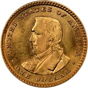 USA Dollar Lewis and Clark Exposition 1905 KM# 121 • UNITED STATES OF AMERICA • ONE DOLLAR • coin reverse
