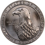 USA Dollar Los Angeles Olympics Discus 1983 D KM# 209 UNITED STATES OF AMERICA ONE DOLLAR E PLURIBUS UNUM coin reverse