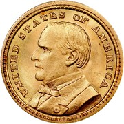 USA Dollar Louisiana Purchase Exposition — McKinley 1903 KM# 120 UNITED STATES OF AMERICA coin obverse