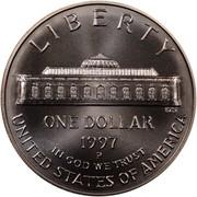 USA Dollar U.S. Botanic Garden 175th Anniversary 1997 P KM# 278 LIBERTY UNITED STATES OF AMERICA ONE DOLLAR IN GOD WE TRUST coin reverse