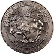 USA Dollar Yellowstone 1999 P KM# 299 UNITED STATES OF AMERICA ONE DOLLAR E PLURIBUS UNUM coin reverse