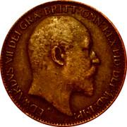UK Farthing Edward VII 1904 KM# 792 EDWARDVS VII DEI GRA:BRITT:OMN:REX FID:DEF:IND:IMP. DES coin obverse