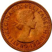 UK Farthing Elizabeth II 1955 Proof KM# 895 + ELIZABETH∙II∙DEI∙GRATIA∙REGINA∙F∙D: coin obverse