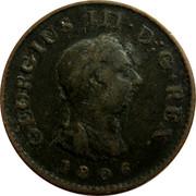 UK Farthing George III 1806 Proof KM# 661b GEORGIUS III. D: G. REX. coin obverse