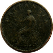 UK Farthing George III 1806 Proof KM# 661b BRITANNIA coin reverse