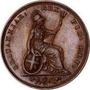 UK Farthing George IV 1826 KM# 697 BRITANNIAR: REX: FID: DEF: coin reverse