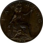 UK Farthing George V 1918 KM# 808.1 FARTHING *YEAR* coin reverse