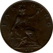 UK Farthing George V 1919 KM# 808.2 FARTHING *YEAR* coin reverse