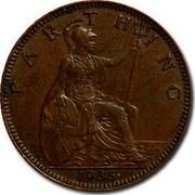 UK Farthing George V 1935 KM# 825 FARTHING *YEAR* coin reverse