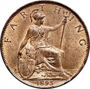 UK Farthing Victoria 1895 KM# 788.1 FARTHING coin reverse