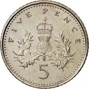 UK Five Pence Elizabeth II 2006 Proof KM# 988 FIVE PENCE 5 coin reverse