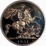UK Five Shillings Festival of Britain 1951 Proof KM# 880 1951 B. P coin reverse