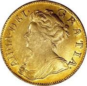 UK Guinea Anne First bust elephant and castle below 1707 KM# 528.2 ANNA∙DEI∙ GRATIA∙ coin obverse
