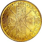 UK Guinea Anne First bust elephant and castle below 1707 KM# 528.2 17 07∙MAG BRI∙FR ET∙HIB REG∙ coin reverse